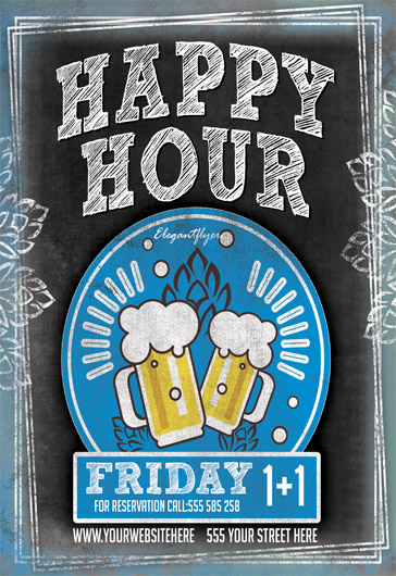 Happy Hour Invitation Template
