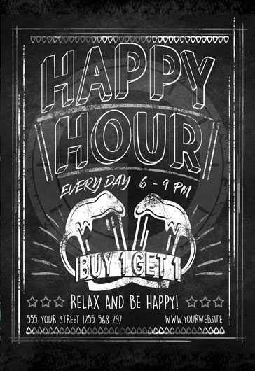 Beer Belly Happy Hour Template By ElegantFlyer