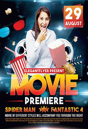 Movie Premiere – Flyer PSD Template