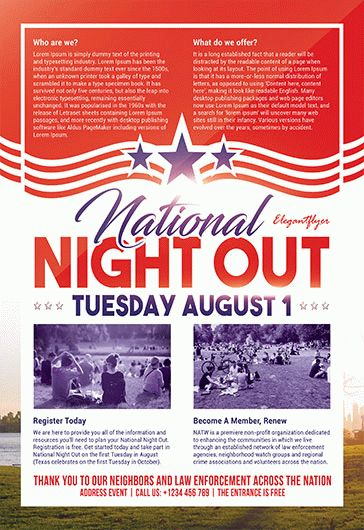 National Night Out V2 – Flyer PSD Template