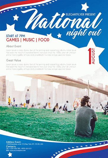 National Night Out – Flyer PSD Template
