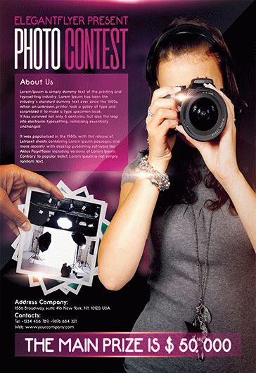Photo Contest – Flyer PSD Template