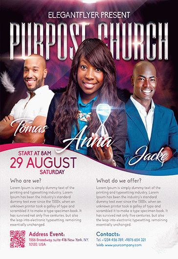Purpose Church – Flyer PSD Template