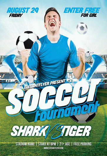 Free Soccer Flyer Template By ElegantFlyer