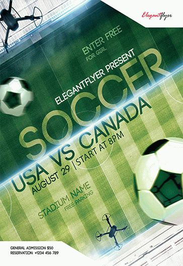 Soccer Game PSD Template
