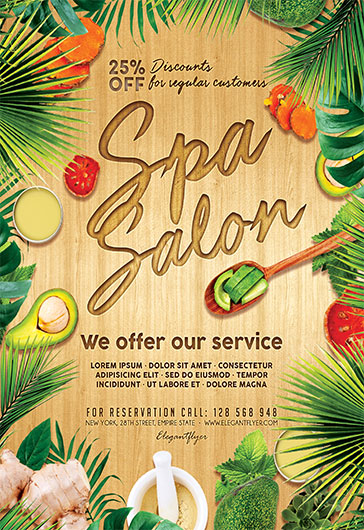 Spa Salon – Flyer PSD Template