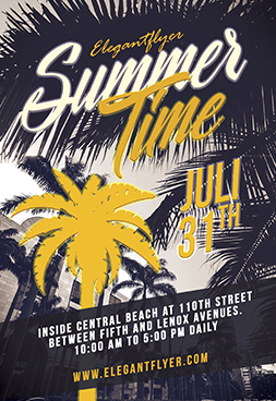 Summers Time _part2 – party flyer free psd