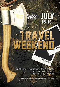 Travel Weekend – Free Flyer PSD Template