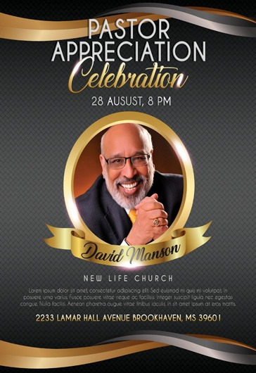 Theme For Pastor Appreciation Celebration Flyer By Elegantflyer