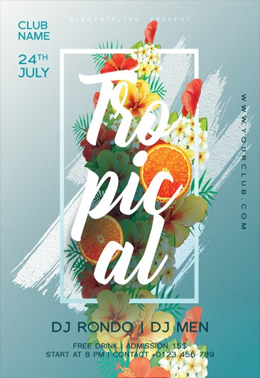 Tropical – Flyer PSD Template