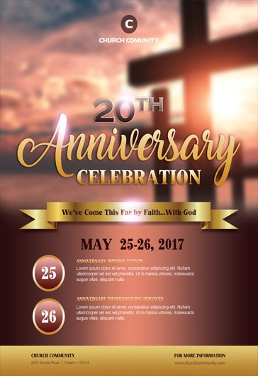 Free Pastor Anniversary Flyer Templates  By Elegantflyer