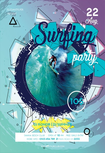 Sutfing Party – Flyer PSD Template