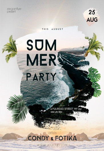 Summer Sea Beach Resort PSD Template