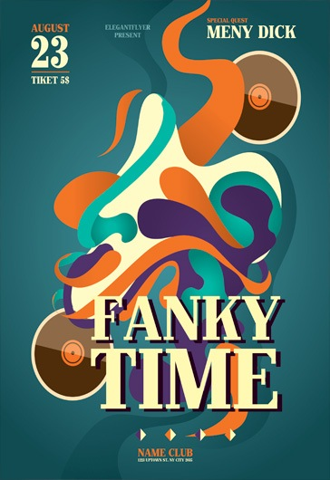 Fanki Time – Flyer PSD Template