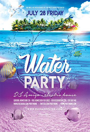Water Party – Flyer PSD Template