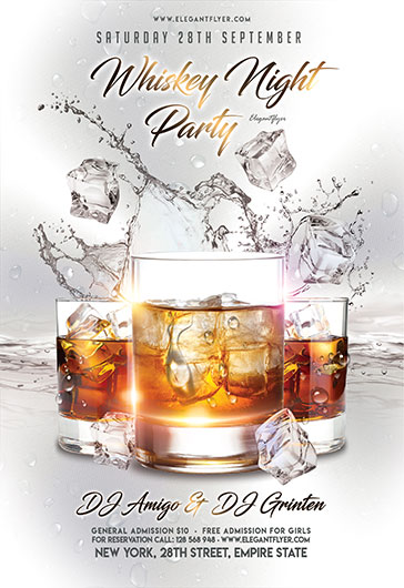 Whiskey Night Сlub Flyer Printable