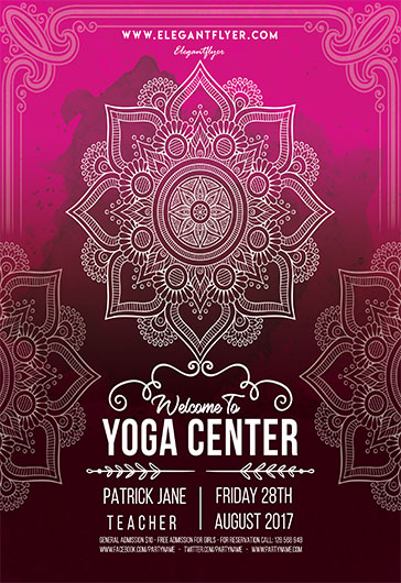 Yoga  Flyer Psd Template  Facebook Cover  By Elegantflyer