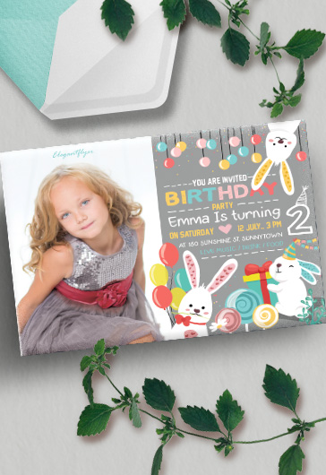 Birthday Party v07 – Invitation PSD Template