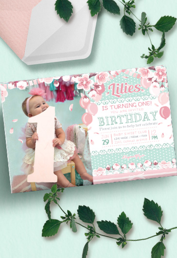 Free Birthday Party Summer – Invitation PSD Template
