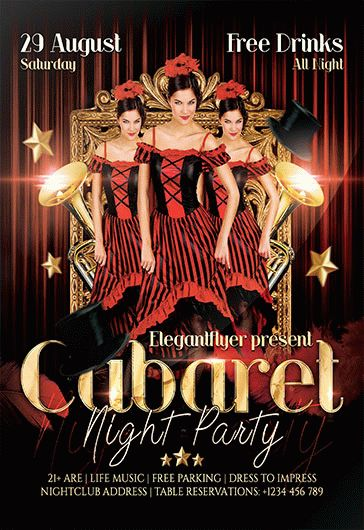 Cabaret – Flyer PSD Template
