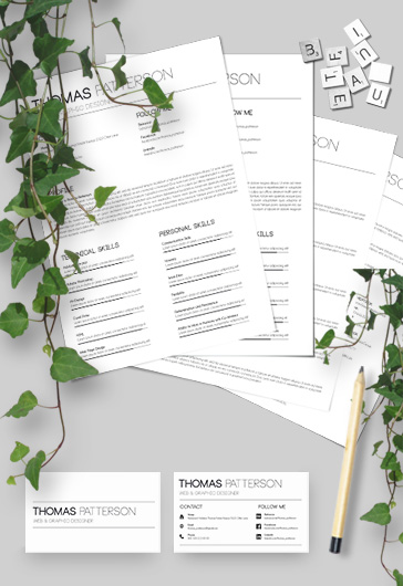 Professional PSD Resume Template for Job Seeker