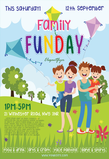 Family Funday – Flyer PSD Template