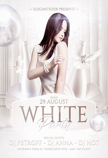 Flyer for White Party Dress