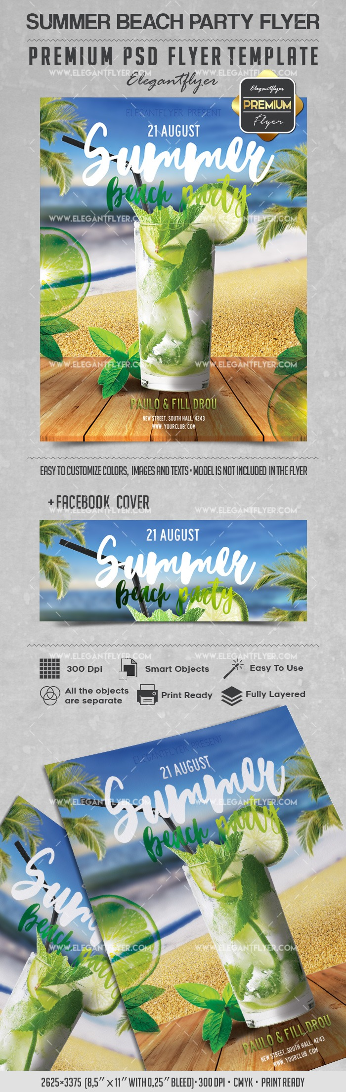 Summer beach Party – Flyer PSD Template