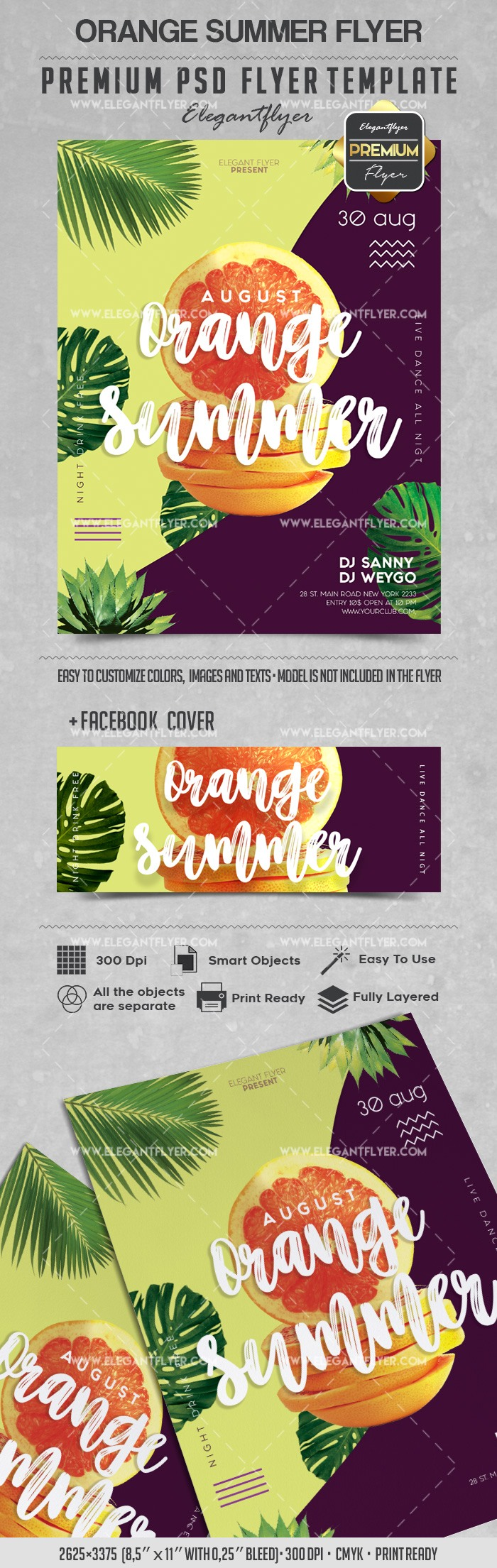 Orange Summer – Flyer PSD Template