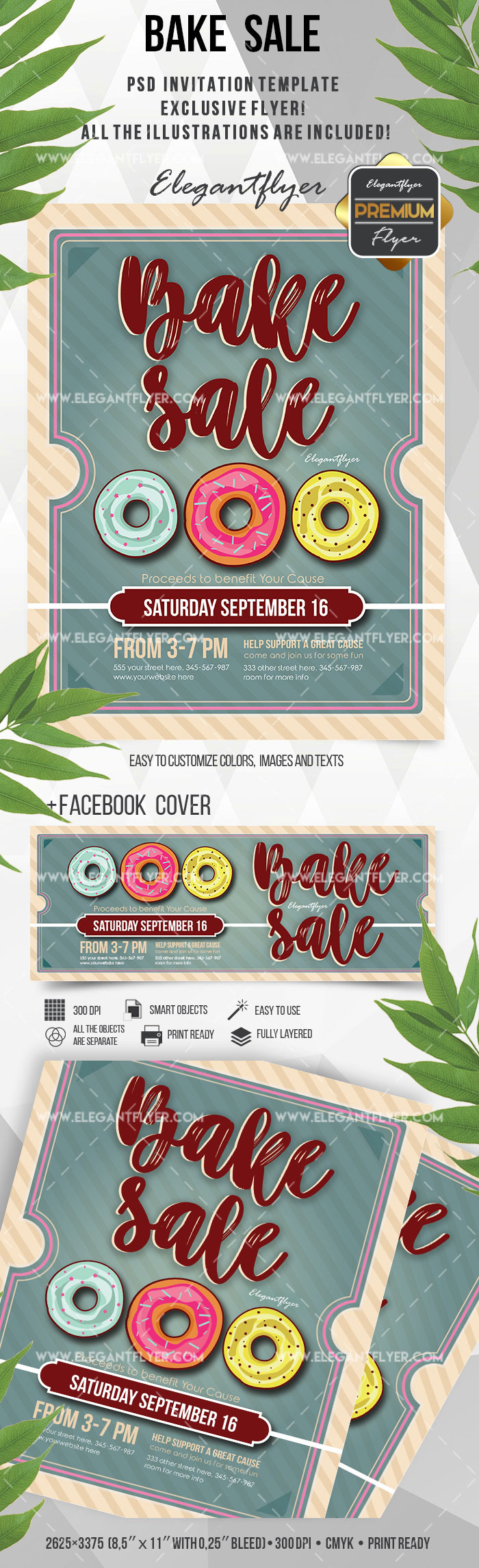 Flyer Template for Bake and Sale