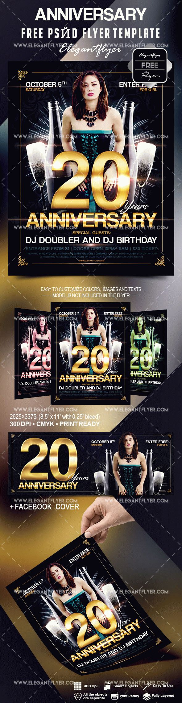 Anniversary flyers template free by elegantflyer anniversary flyers template free pronofoot35fo Gallery