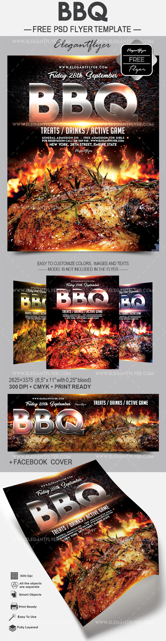 BBQ – Free Flyer PSD Template