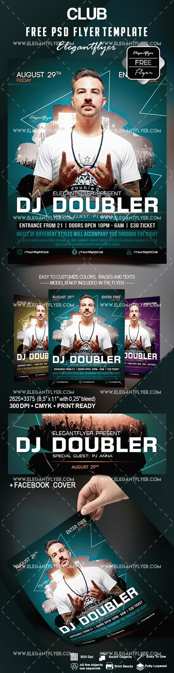 free club flyer template
