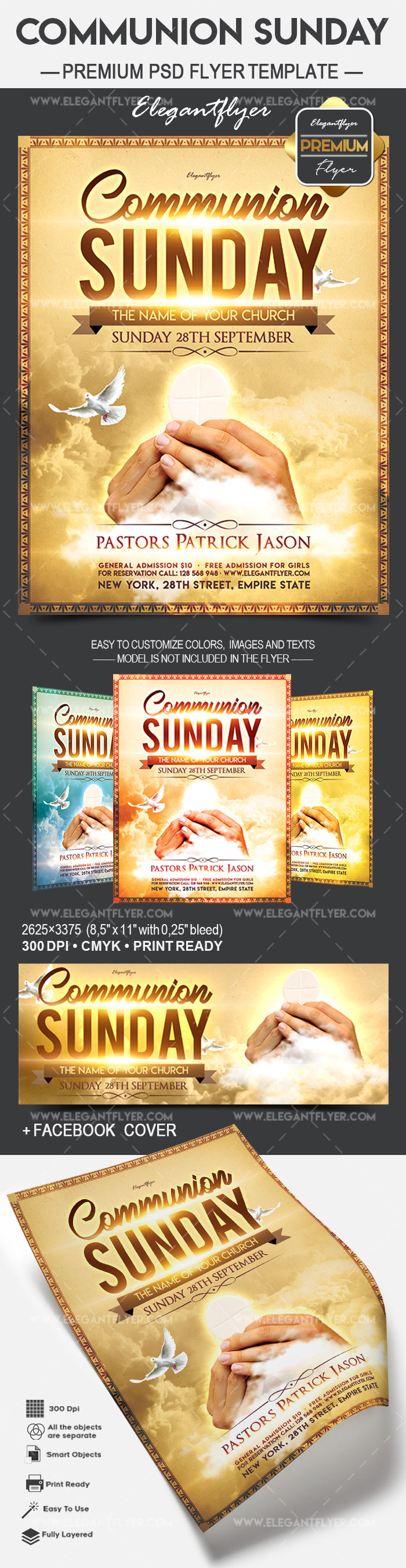 communion sunday  u2013 flyer psd template  u2013 by elegantflyer