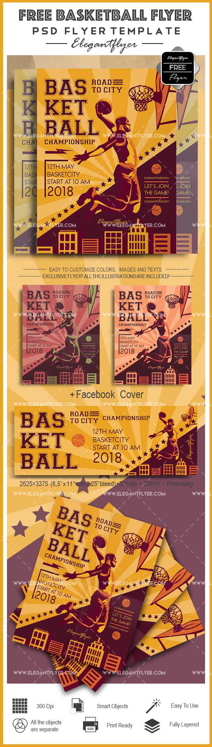 Free Basketball Flyer – Free Flyer PSD Template