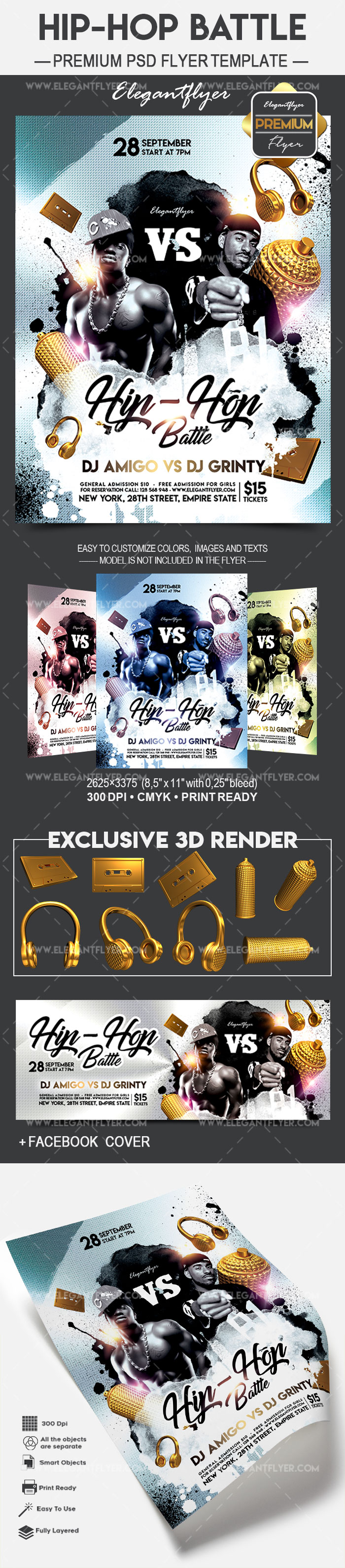 Hip-Hop Battle – Flyer PSD Template