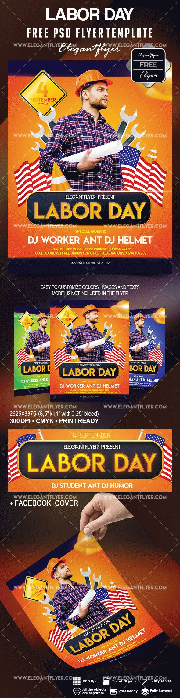 Free Labor Day Flyer Template