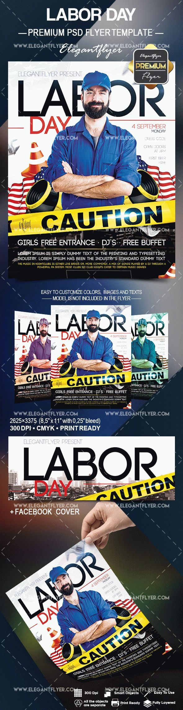 Labor Day Flyer Template – by ElegantFlyer