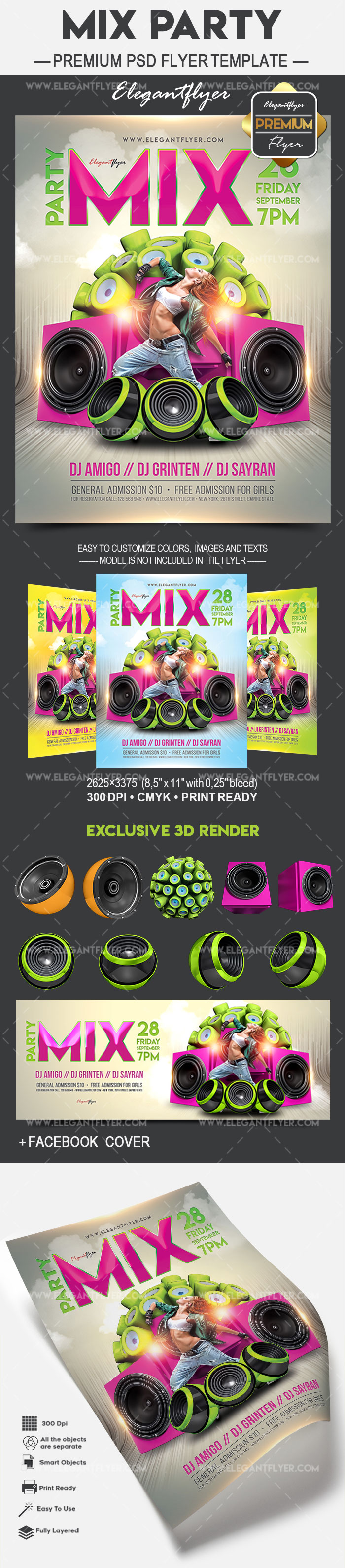 Mix Party – Flyer PSD Template