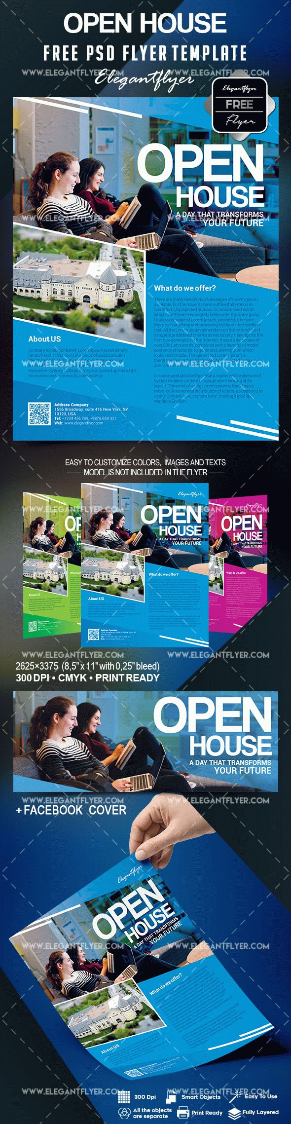 Open House Flyer Template Free By Elegantflyer