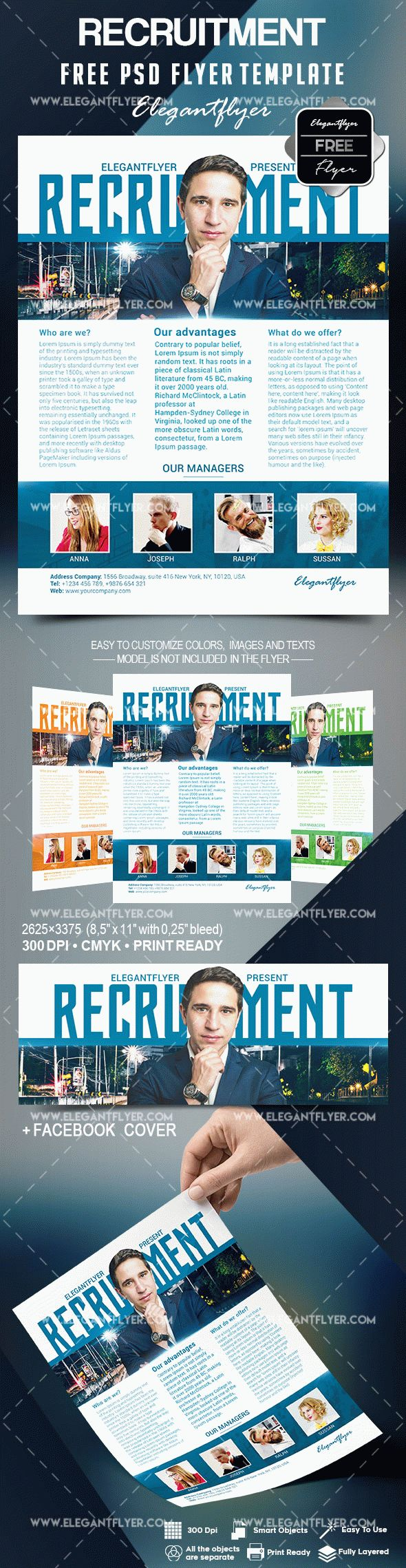 recruitment flyer template free by elegantflyer