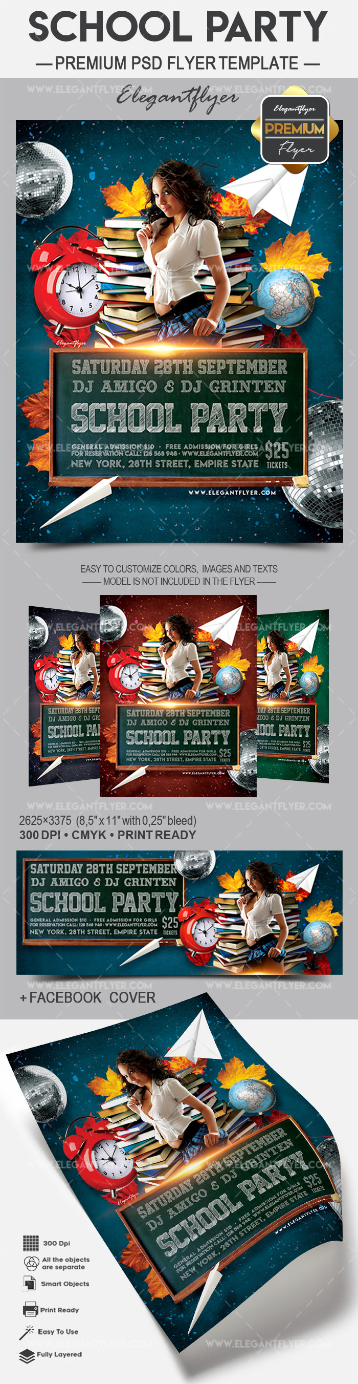 School Party – Flyer PSD Template