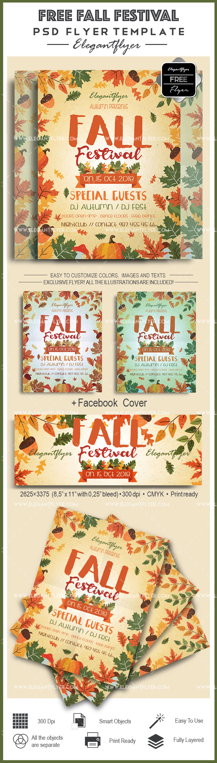 Fall Festival – Free Flyer PSD Template