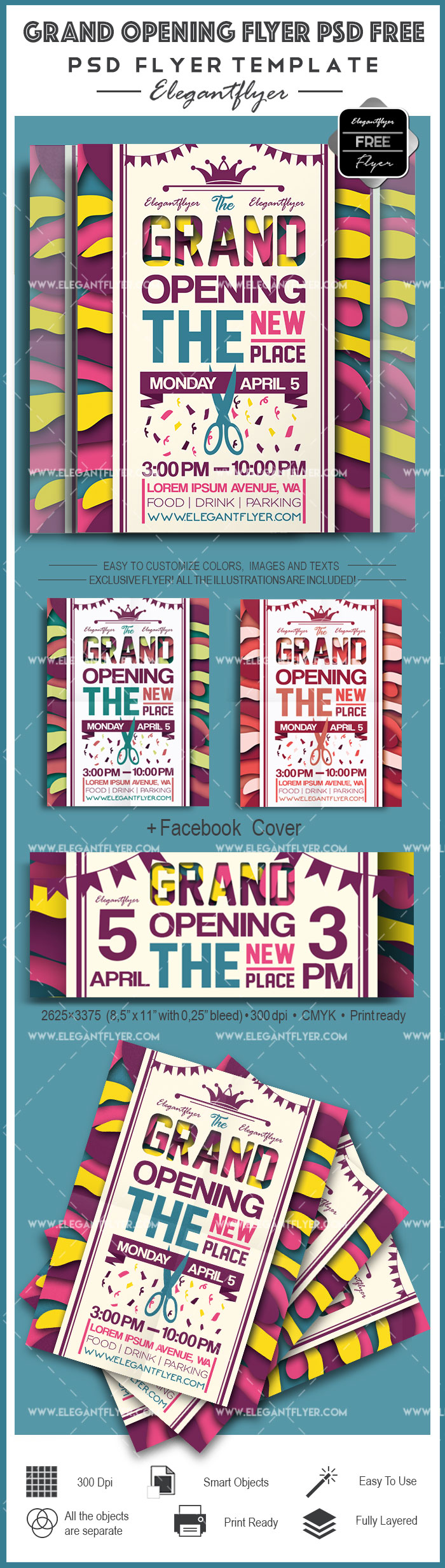 Grand Opening Flyer PSD Template