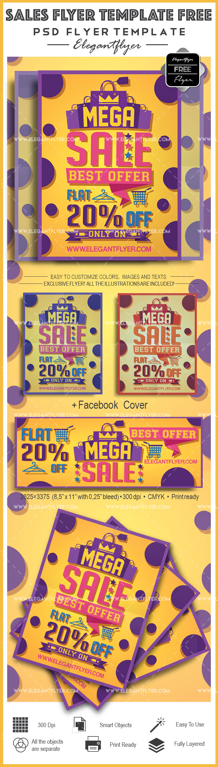 Sales Flyer Template Free – Free Flyer PSD Template