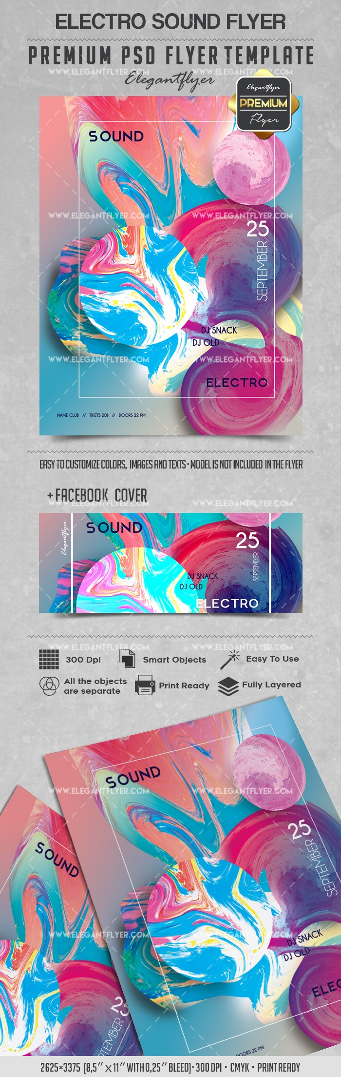 Flyer for Electro Sound Party