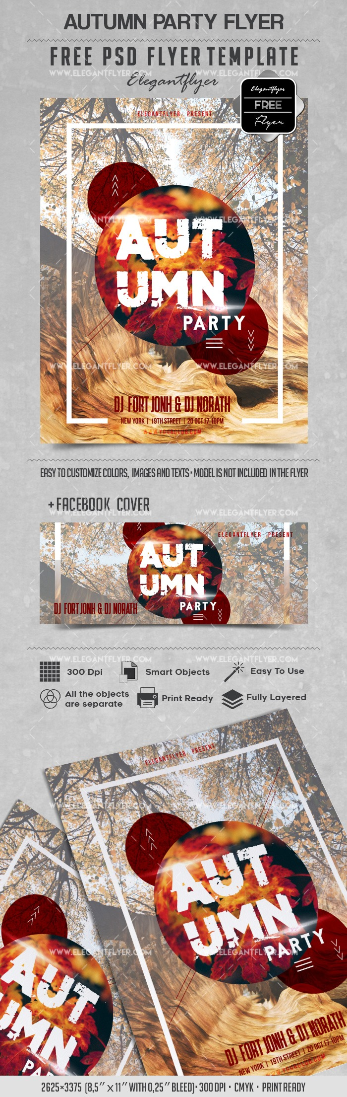 Free Flyer for Autumn Trees Party