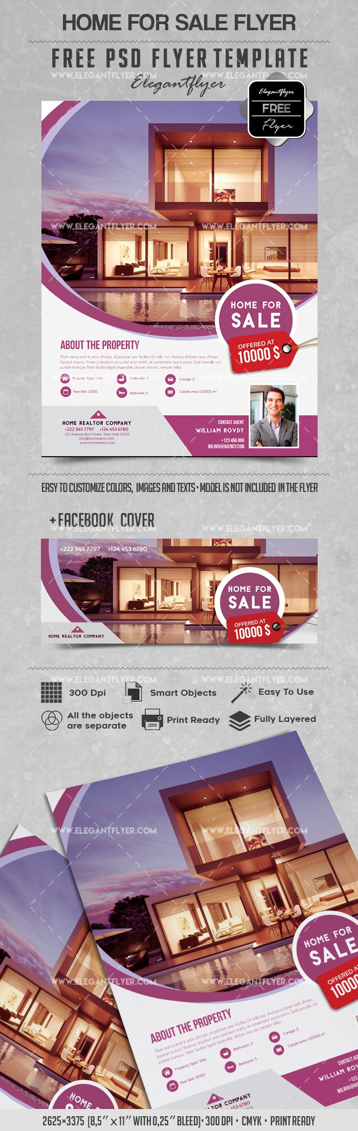 Home for Sale – Flyer PSD Template