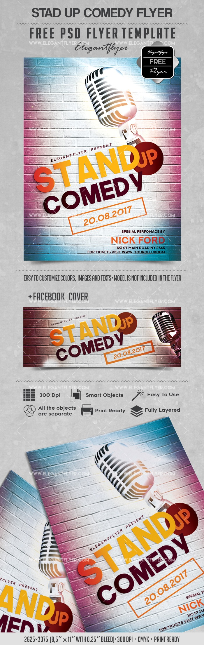 Stand up Comedy – Free Flyer PSD Templates
