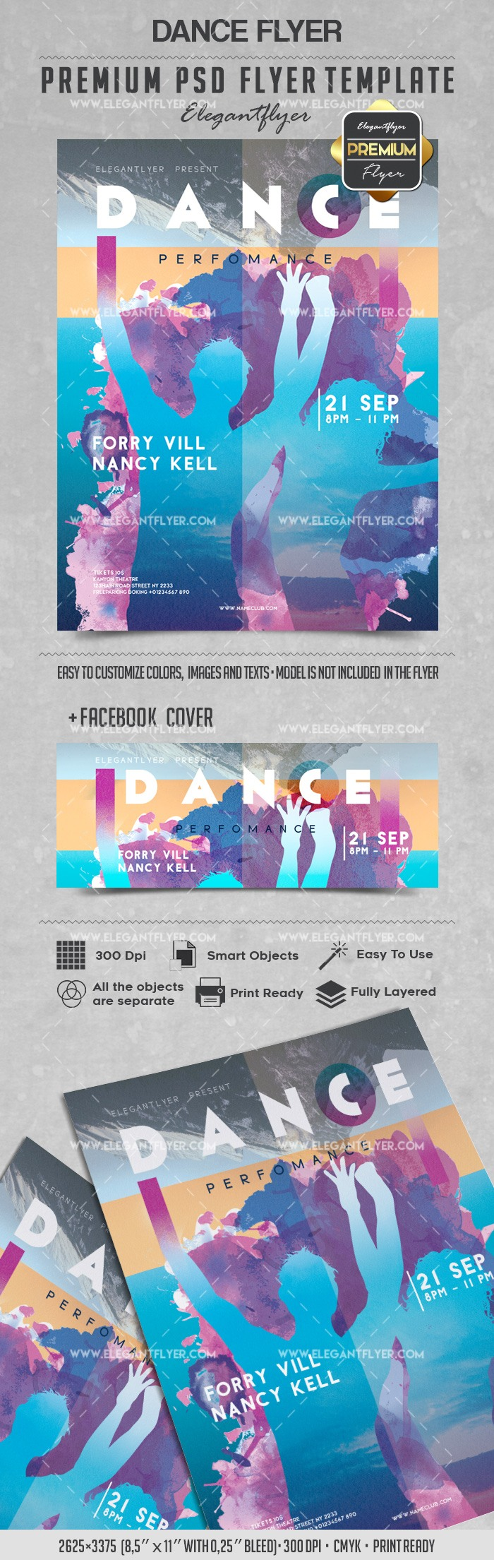 Dance – Flyer PSD Template